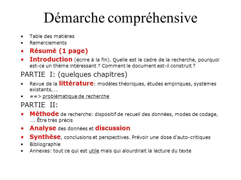 Mémoire de développement Table des matières Remerciements Résumé (1 page) Introduction (écrire à la fin?).