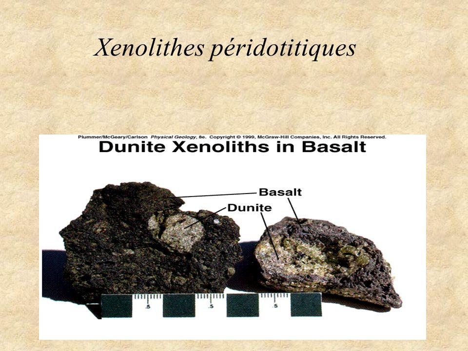 Péridotites dans les chaînes de montagnes Ophiolites