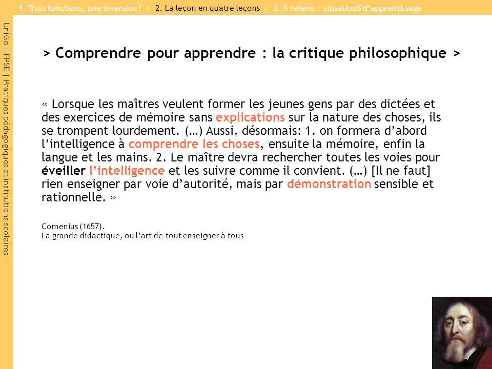 UniGe | FPSE | Pratiques pédagogiques et institutions scolaires > Comprendre pour apprendre : la critique philosophique > « Lorsque les maîtres veulen