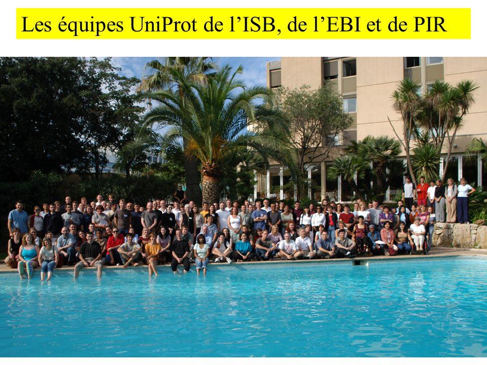 Les équipes UniProt de lISB, de lEBI et de PIR