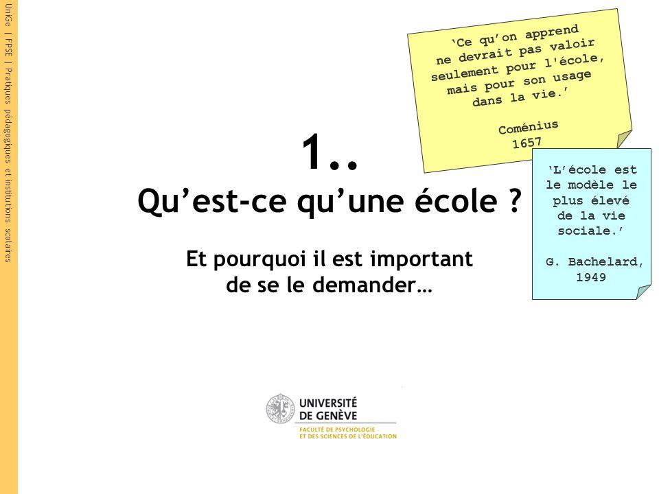 UniGe | FPSE | Pratiques pédagogiques et institutions scolaires « Ça se dit pas dans la vie ! »