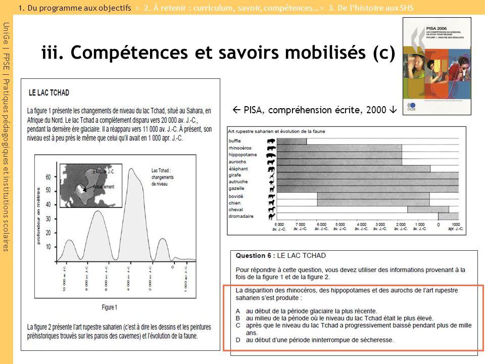 UniGe | FPSE | Pratiques pédagogiques et institutions scolaires PISA, compréhension écrite, 2000 iii. Compétences et savoirs mobilisés (c) 1. Du progr