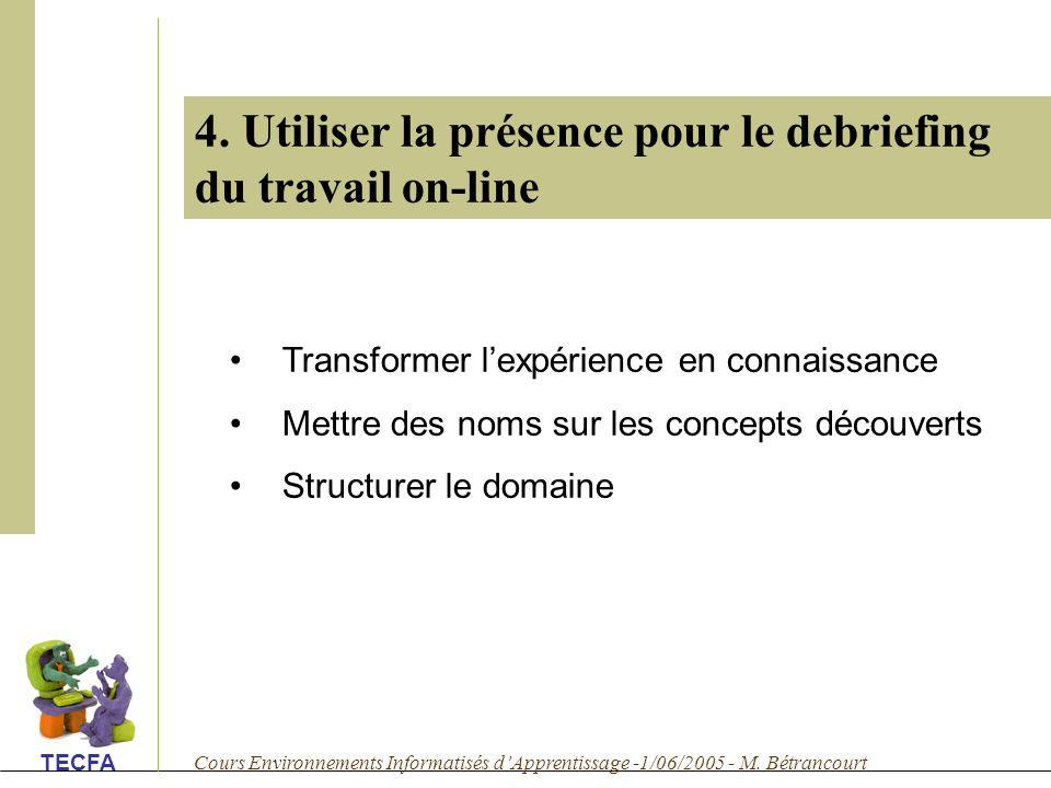 Cours Environnements Informatisés dApprentissage -1/06/2005 - M.
