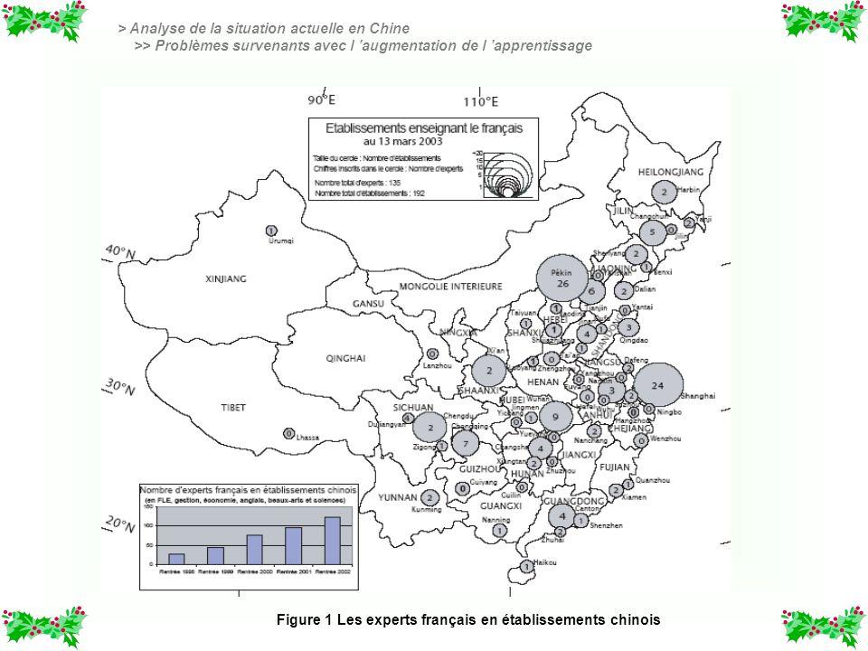 Figure 1 Les experts français en établissements chinois > Analyse de la situation actuelle en Chine >> Problèmes survenants avec l augmentation de l a