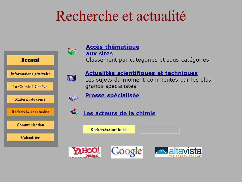 Calendrier des évènements Accueil La Chimie à Genève Informations générales Matériel de cours Recherche et actualité Communication Calendrier Calendrier 2001-2002 Calendrier 2002-2003 Calendrier 2003-2004 Calendrier 2004-2005 Calendrier 2005-2006