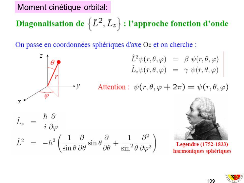 109 Moment cinétique orbital: