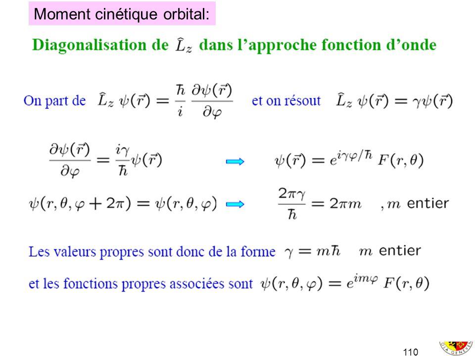 110 Moment cinétique orbital: