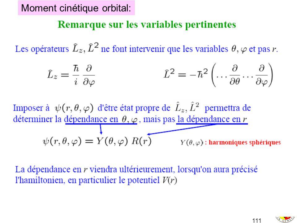 111 Moment cinétique orbital: