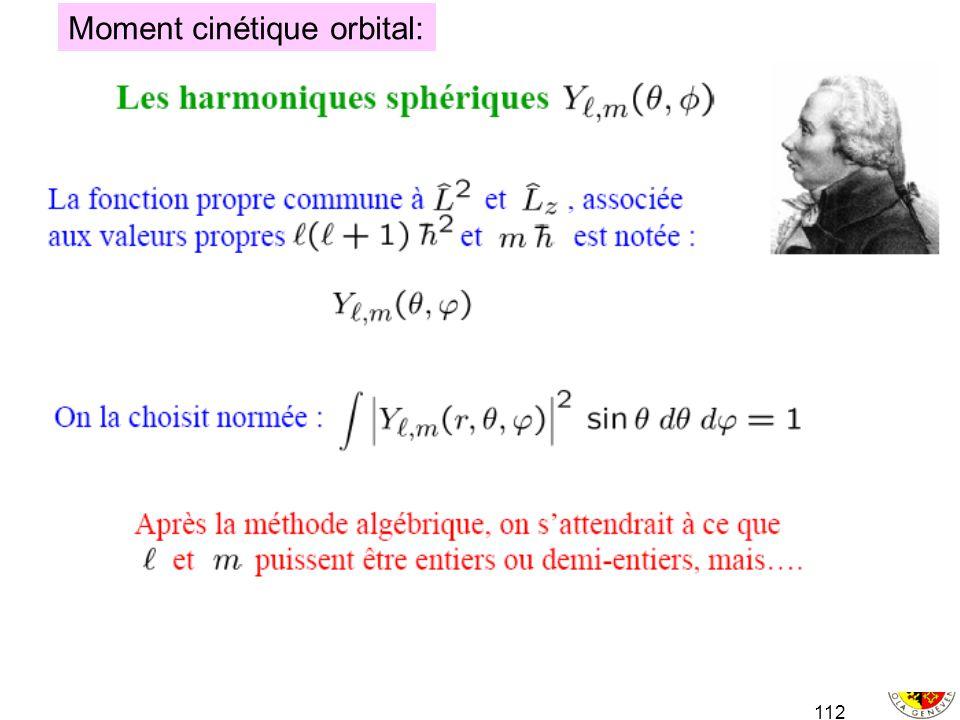 112 Moment cinétique orbital:
