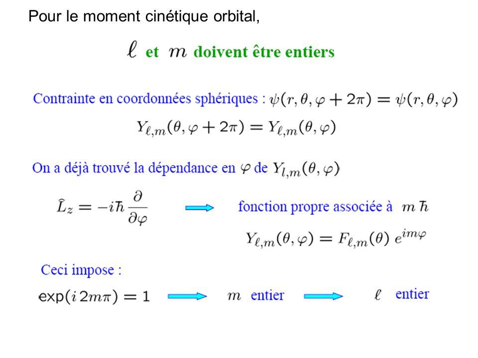113 Pour le moment cinétique orbital,