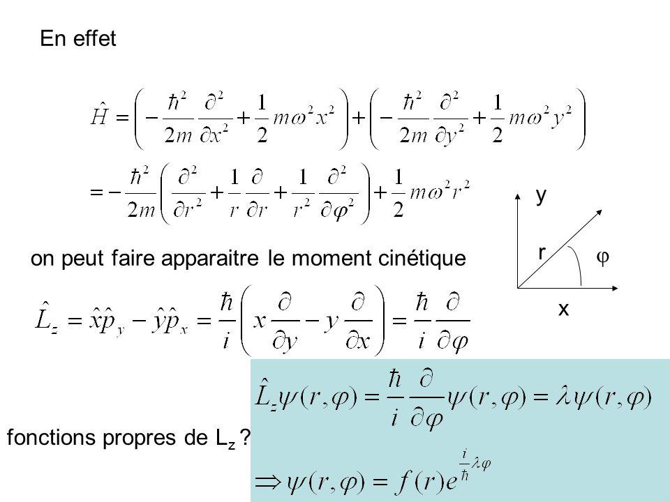 54 En effet r x y on peut faire apparaitre le moment cinétique fonctions propres de L z ?