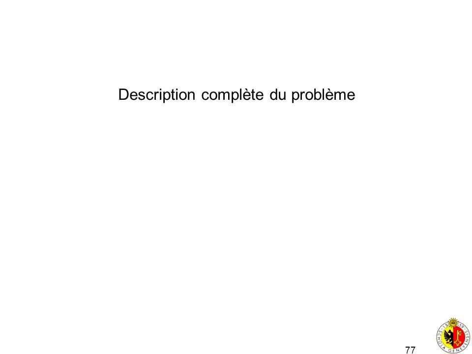 77 Description complète du problème