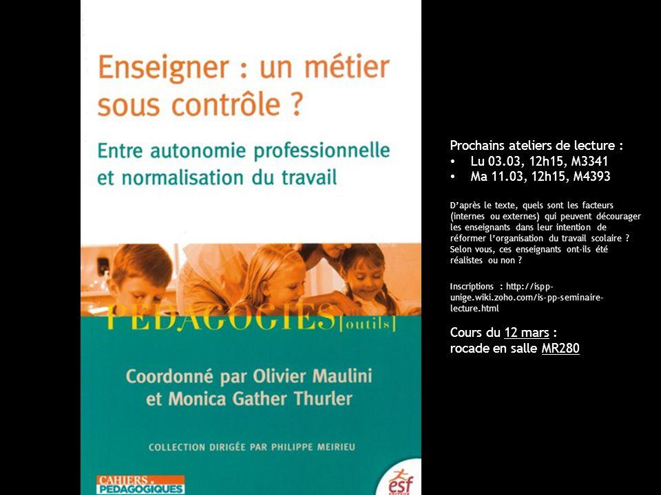 UniGe | FPSE | Pratiques pédagogiques et institutions scolaires 7.