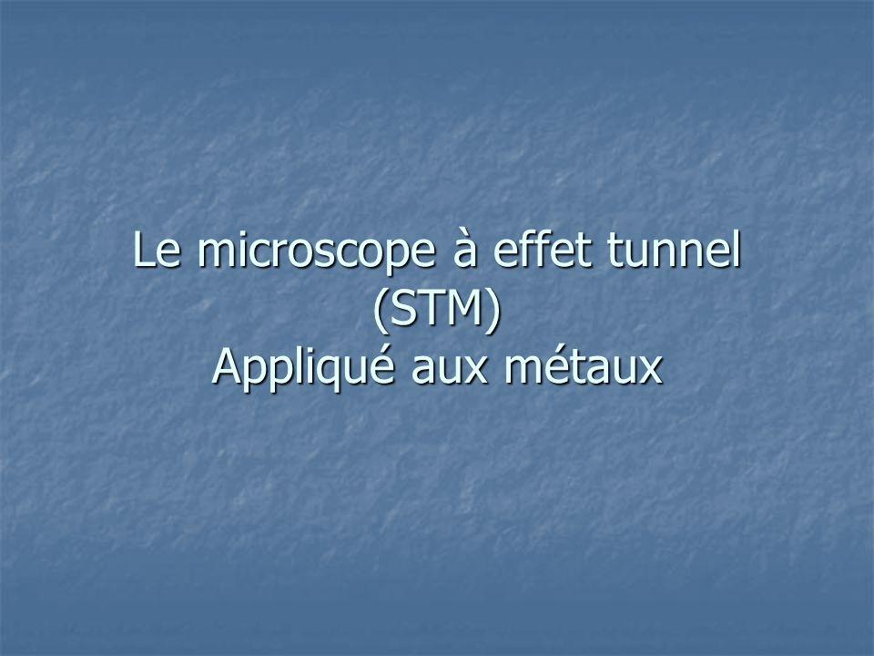 Le microscope à effet tunnel (STM) Appliqué aux métaux