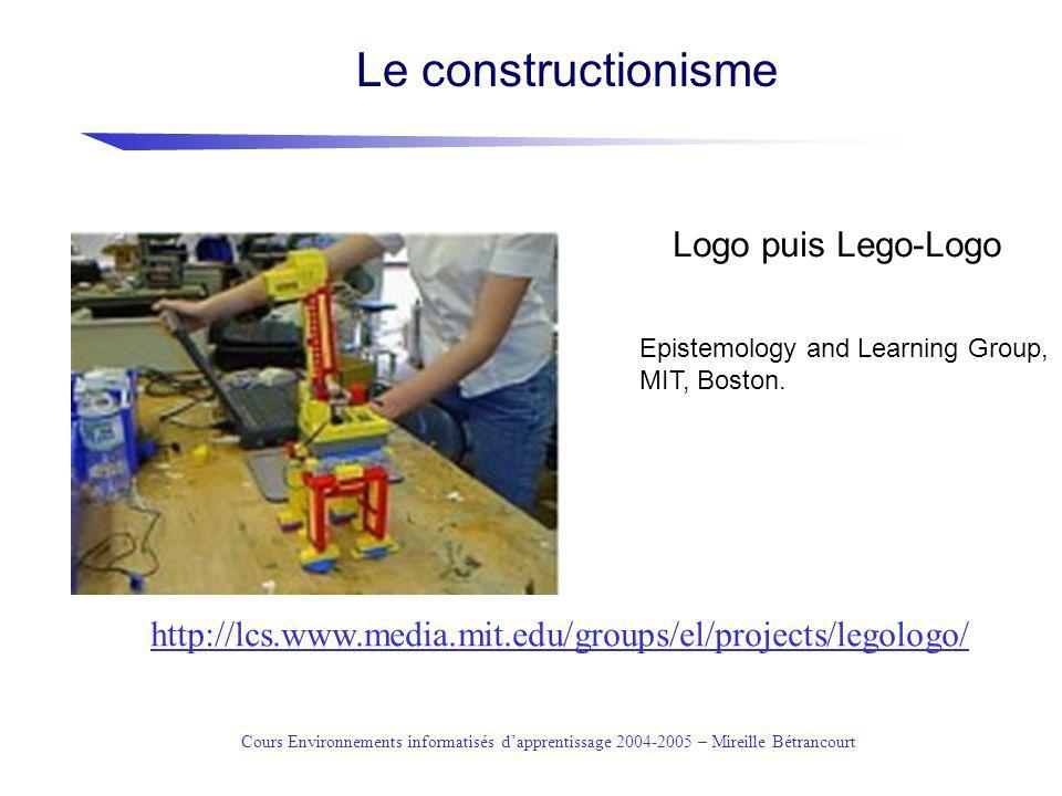 Cours Environnements informatisés dapprentissage 2004-2005 – Mireille Bétrancourt http://www.lego.com/dacta/robolab/conceptofprogram.htm