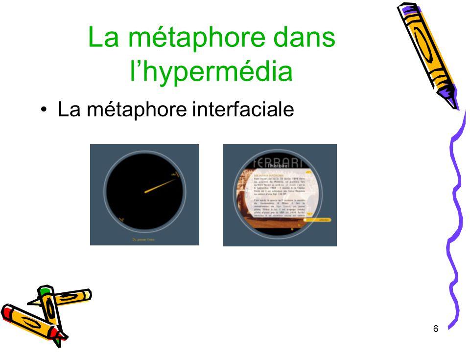 6 La métaphore dans lhypermédia La métaphore interfaciale