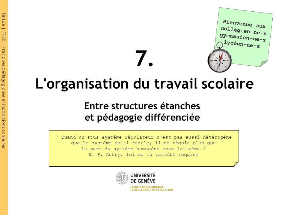 UniGe   FPSE   Pratiques pédagogiques et institutions scolaires HarmoS Projet de standards de formation suisses CDIP, 2010 1.