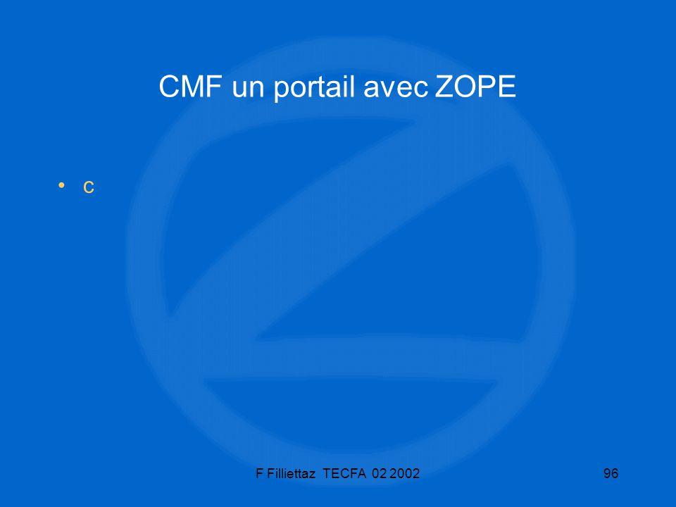 F Filliettaz TECFA 02 200296 CMF un portail avec ZOPE c