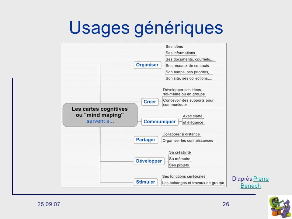 25.09.0726 Usages génériques Daprès Pierre BenechPierre Benech