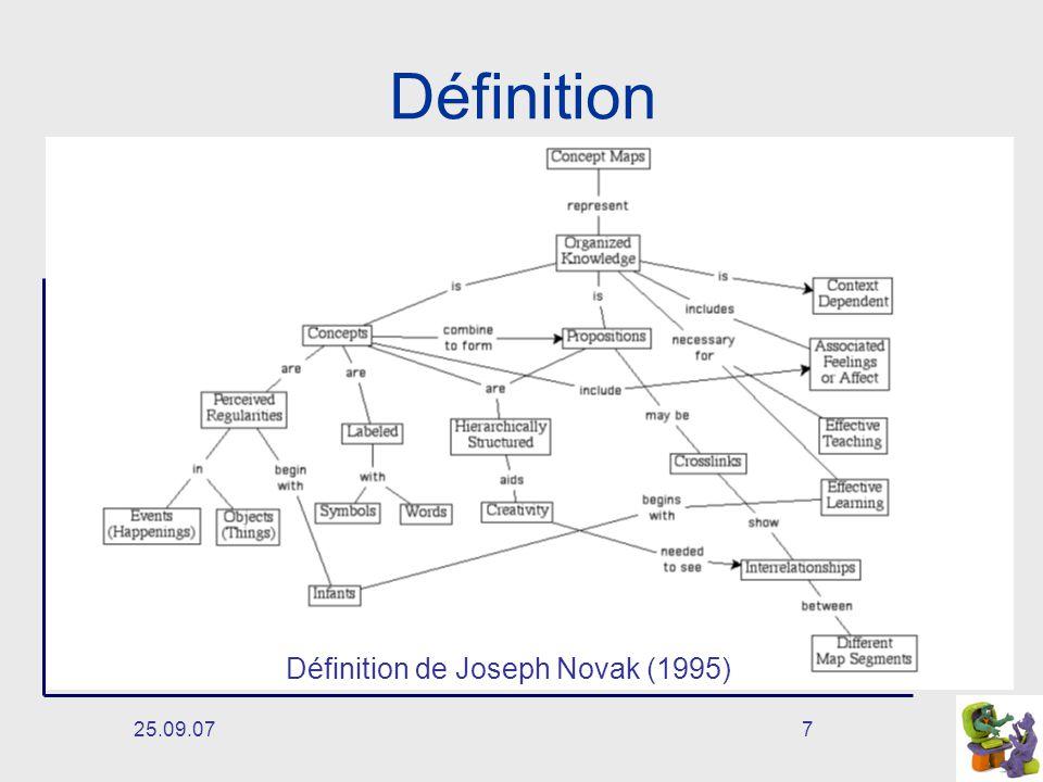 25.09.077 Définition Définition de Joseph Novak (1995)