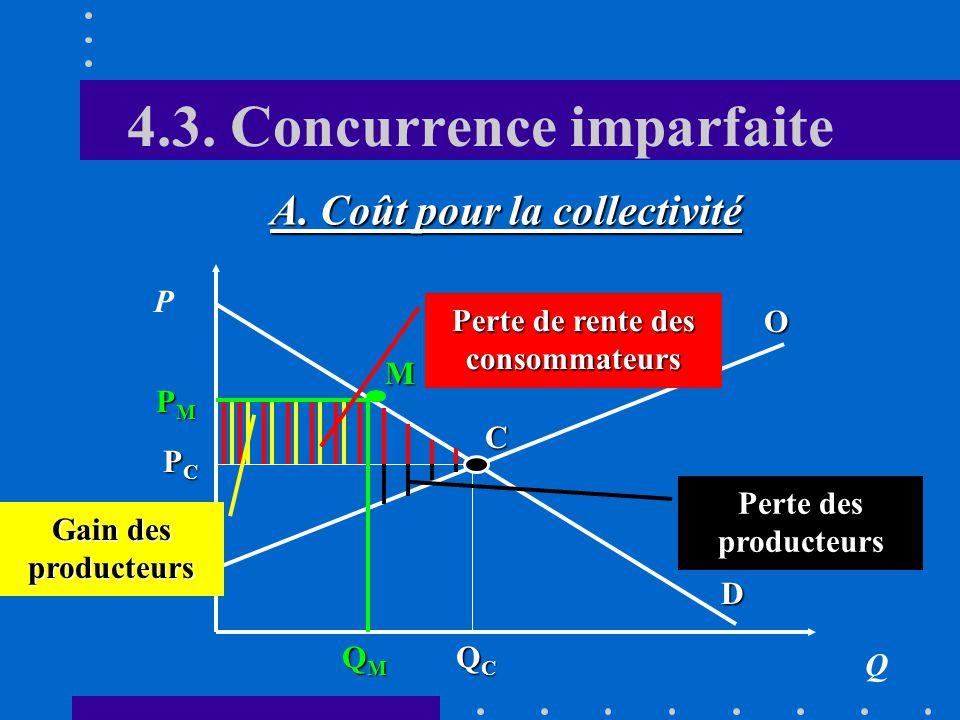 4.2. Les biens et services collectifs purs 1.Forcer la révélation 1.Forcer la révélation des préférences en supprimant la fourniture de certains biens
