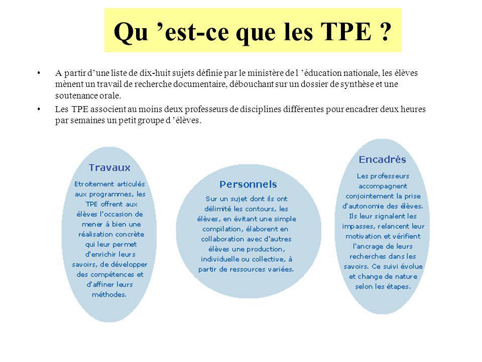 Qu est-ce que les TPE .