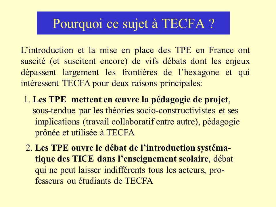 Pourquoi ce sujet à TECFA .