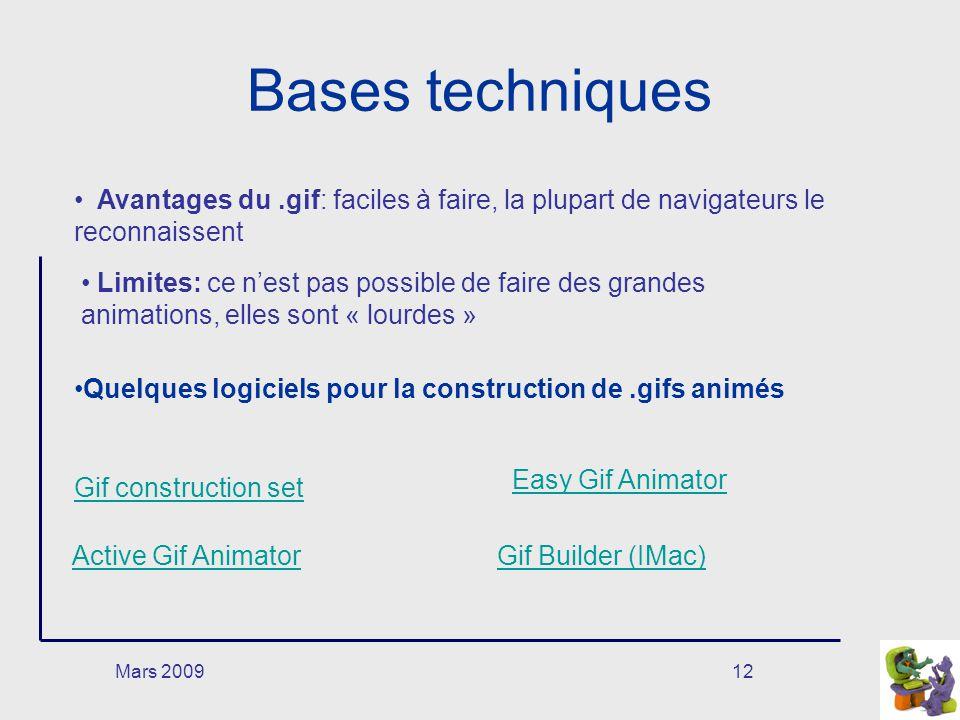 Mars 200912 Bases techniques Quelques logiciels pour la construction de.gifs animés Gif construction set Active Gif Animator Easy Gif Animator Gif Bui