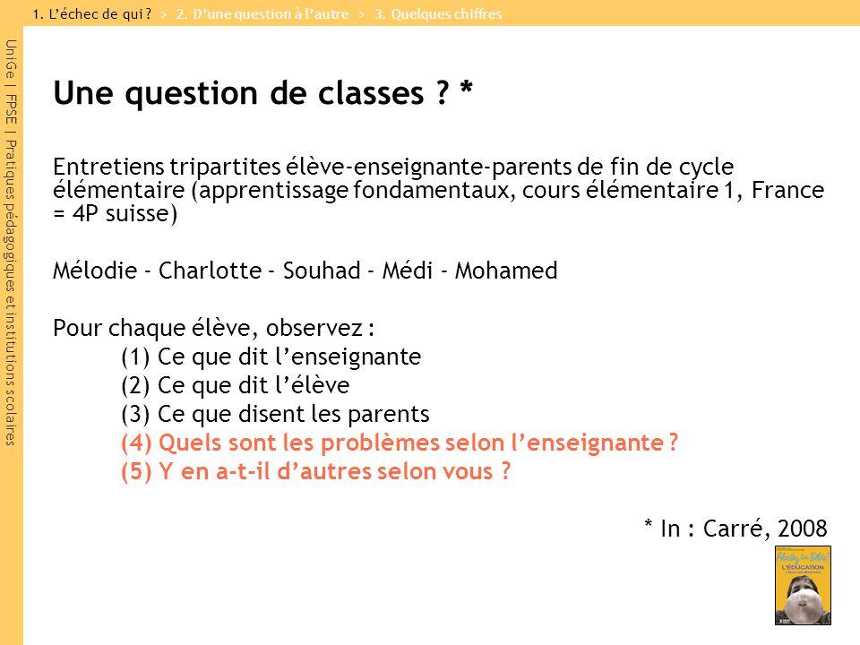 UniGe | FPSE | Pratiques pédagogiques et institutions scolaires Une question de classes .