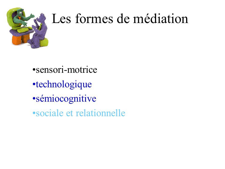 Les formes de médiation sensori-motrice technologique sémiocognitive sociale et relationnelle