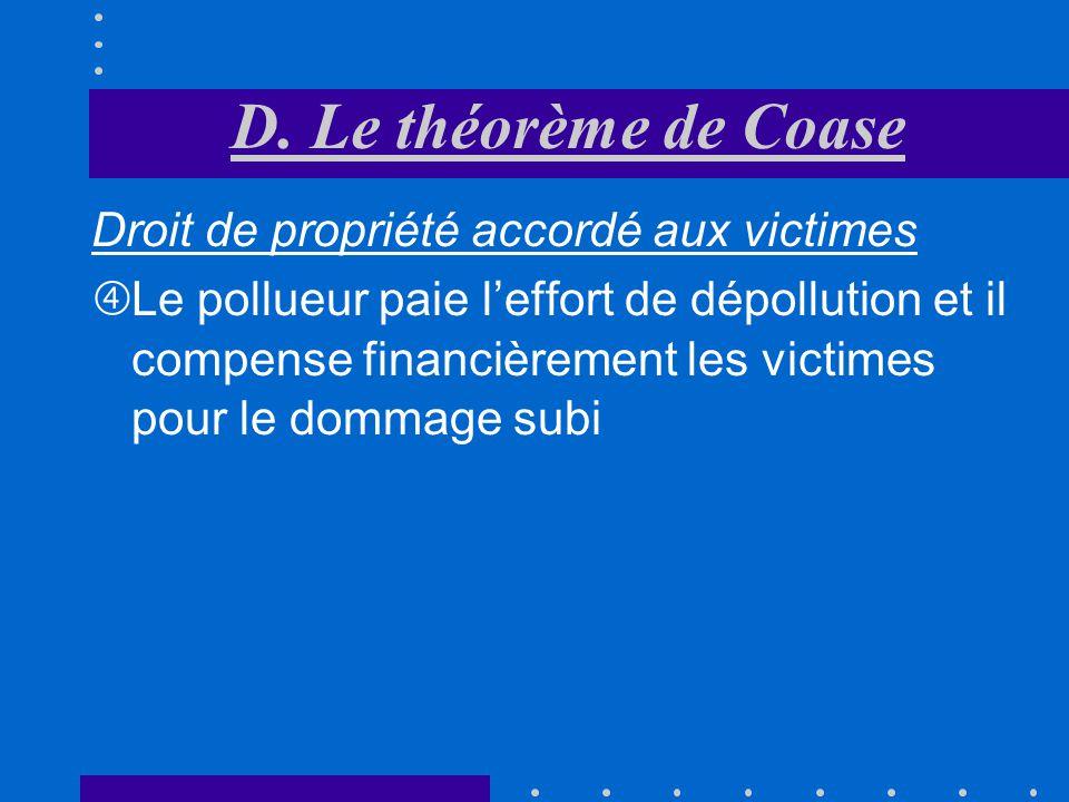 Droit de propriété accordé aux victimes Victimes obtiennent une compensation financière égale à OCE pour le dommage quelles subissent Grâce à laccord,