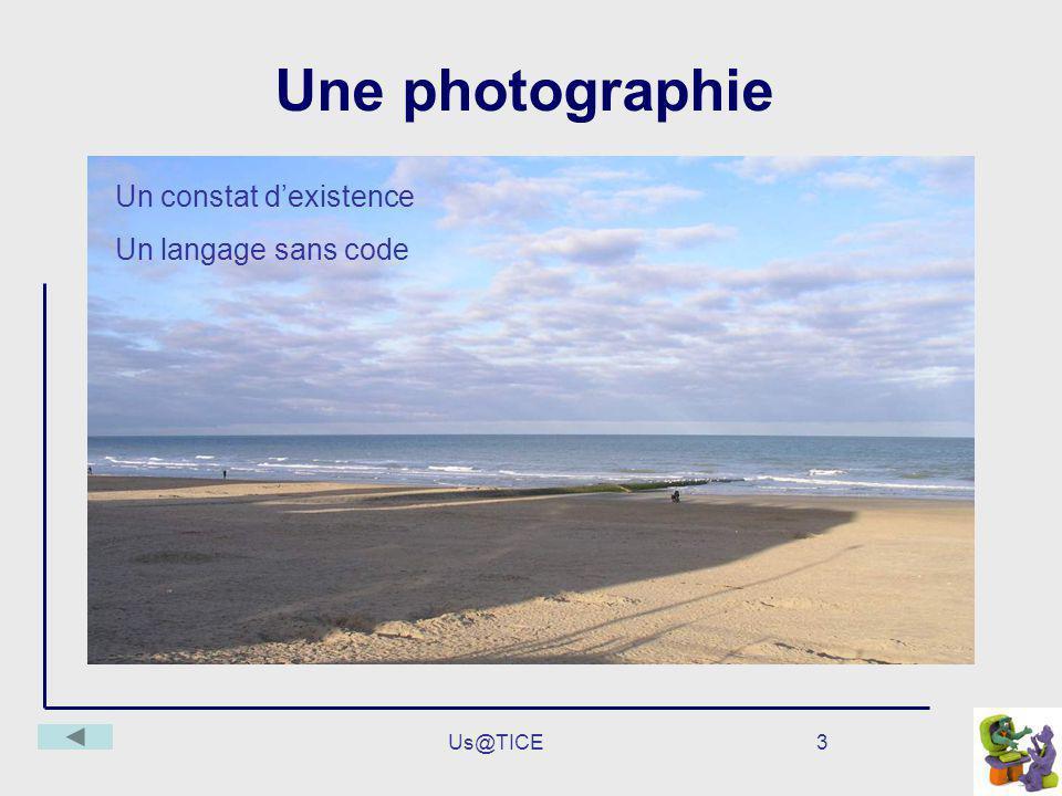 Us@TICE3 Une photographie Un constat dexistence Un langage sans code