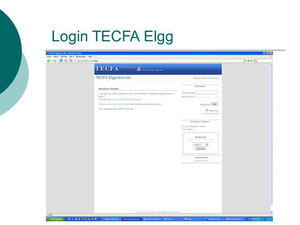 Login TECFA Elgg