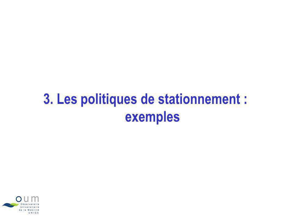 3. Les politiques de stationnement : exemples