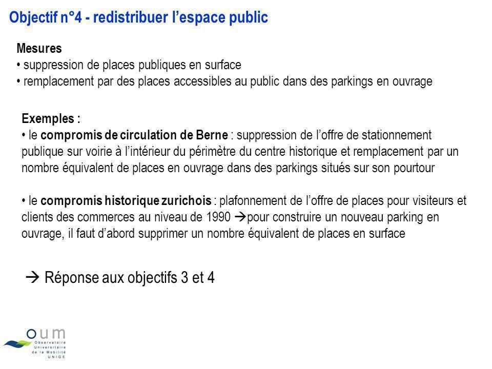 Objectif n°4 - redistribuer lespace public Mesures suppression de places publiques en surface remplacement par des places accessibles au public dans d