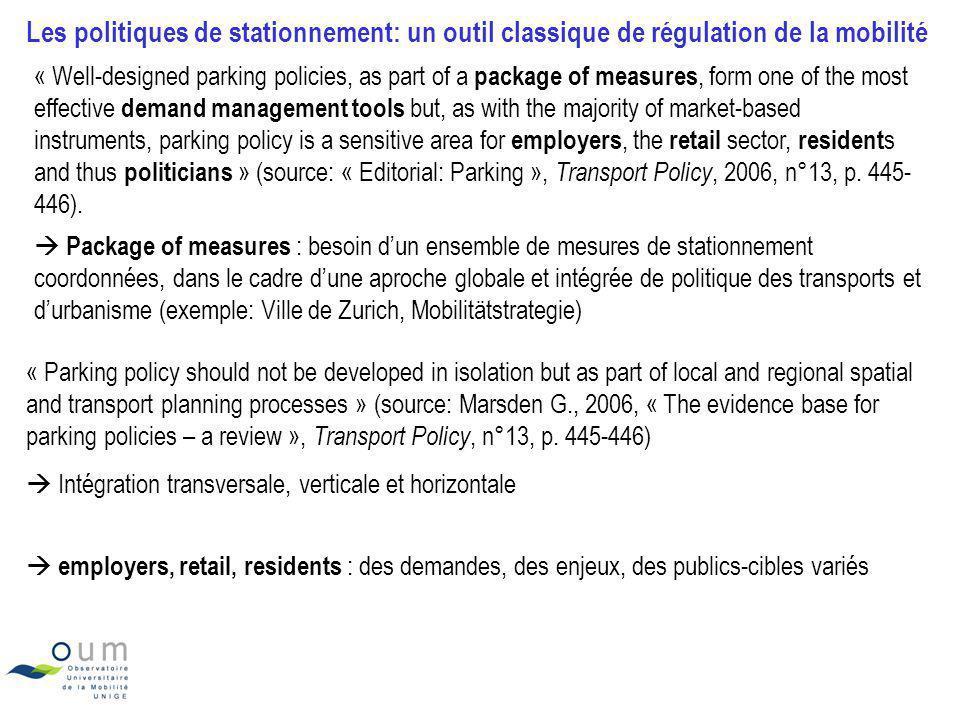 Exemples Source: Stadt Zürich, Polizeidepartement, Zones bleues à autorisations de stationnement pour habitants, Genève Les zones à permis de stationnement pour riverains en Ville de Zurich