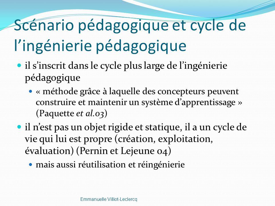 Scénario pédagogique et cycle de lingénierie pédagogique il sinscrit dans le cycle plus large de lingénierie pédagogique « méthode grâce à laquelle de