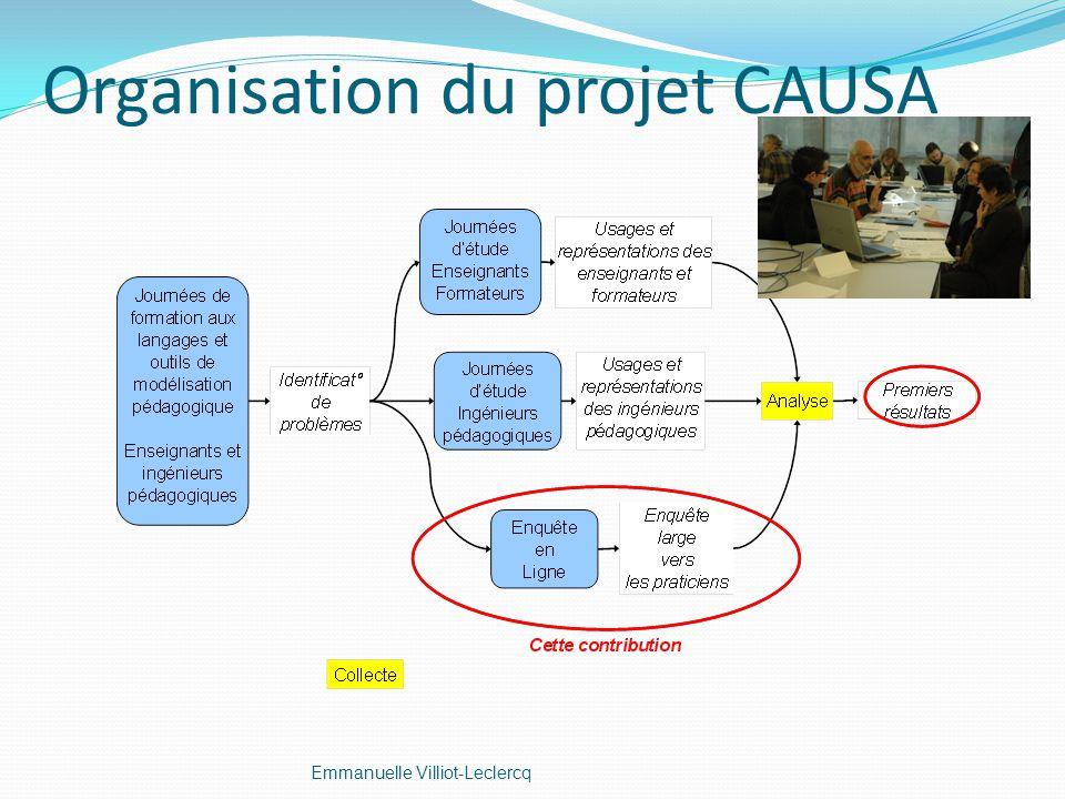 Organisation du projet CAUSA Emmanuelle Villiot-Leclercq