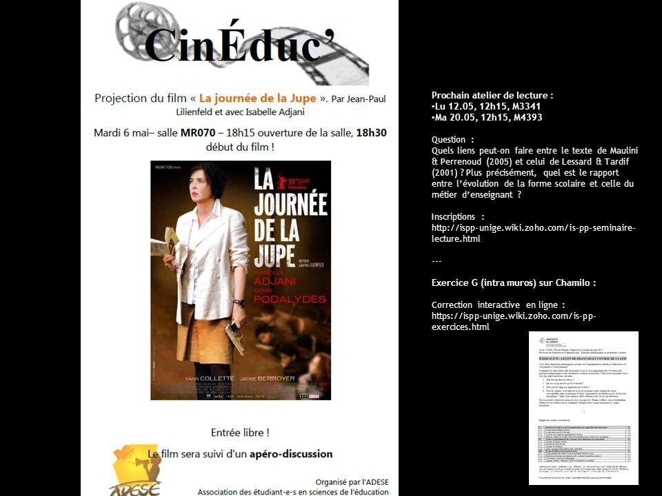 UniGe | FPSE | Pratiques pédagogiques et institutions scolaires
