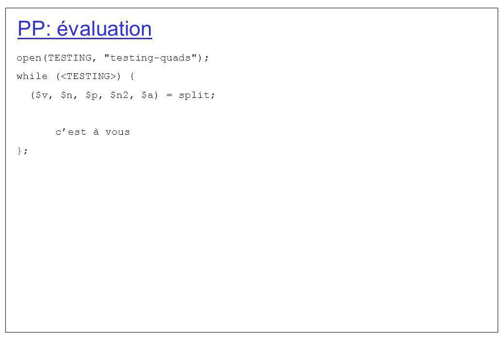 PP: évaluation open(TESTING,