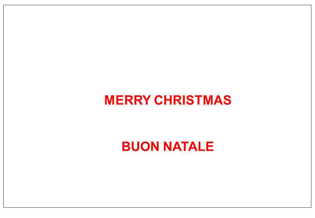 MERRY CHRISTMAS BUON NATALE