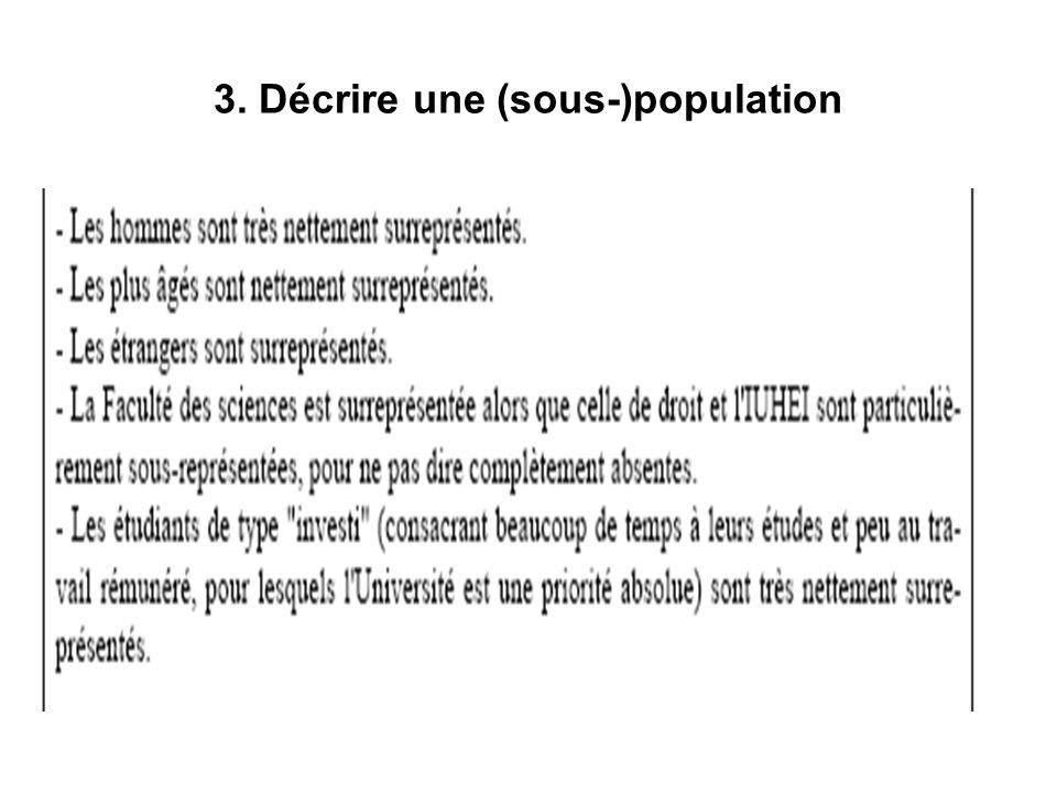 3. Décrire une (sous-)population