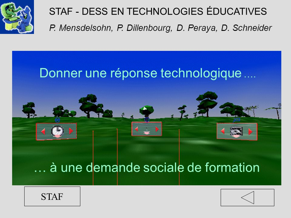 STAF - DESS EN TECHNOLOGIES ÉDUCATIVES P.Mensdelsohn, P.