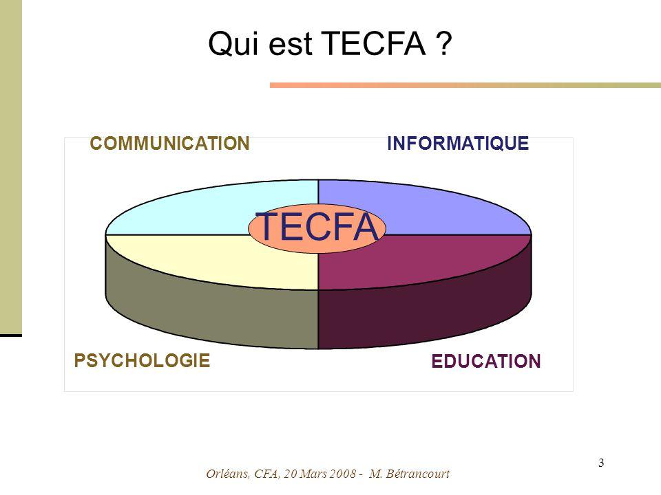 Orléans, CFA, 20 Mars 2008 - M. Bétrancourt 14 Simulations et micromondes