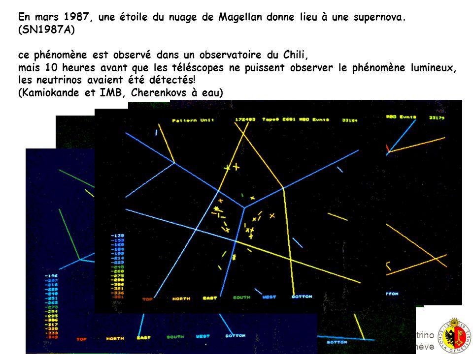 Alain Blondel Groupe Neutrino Université de Genève En mars 1987, une étoile du nuage de Magellan donne lieu à une supernova.