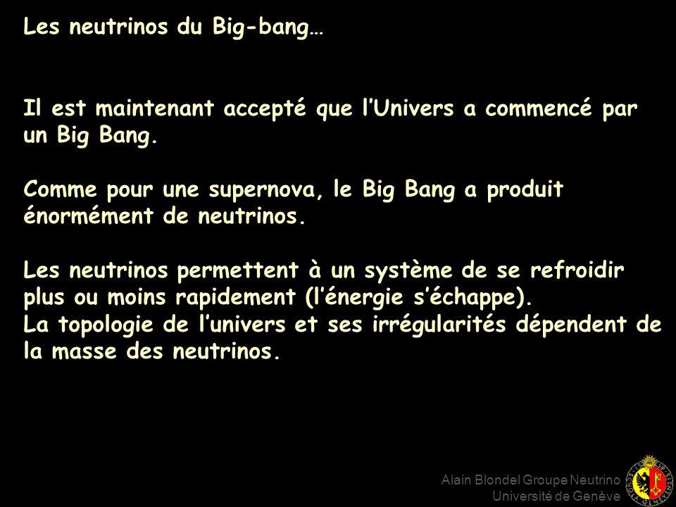 Les neutrinos du Big-bang… Il est maintenant accepté que lUnivers a commencé par un Big Bang.