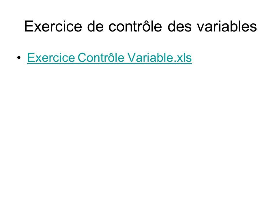 Exercice de contrôle des variables Exercice Contrôle Variable.xls