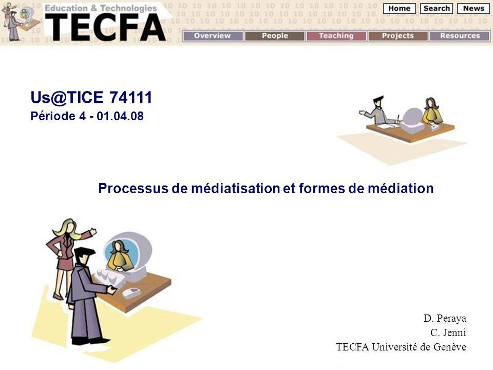 UNIGE, 01.04.2008D.Peraya, TECFA Les médias numériques et Internet : quest ce qui change .