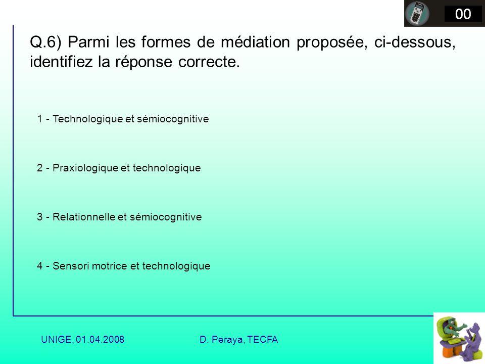 UNIGE, 01.04.2008D. Peraya, TECFA Formes de médiation