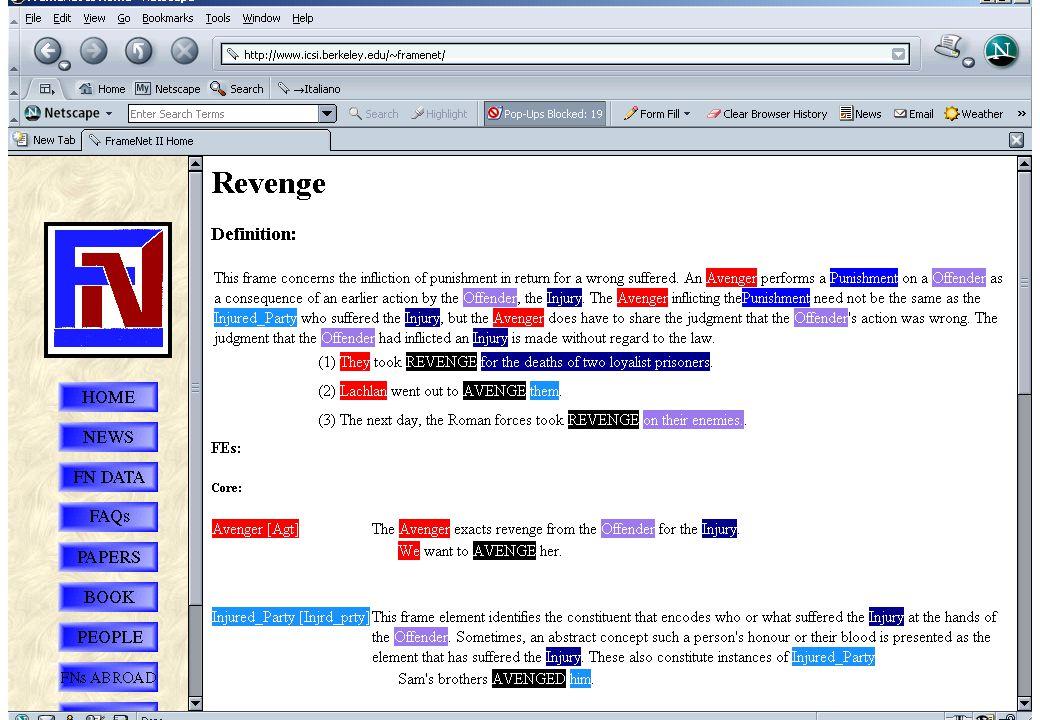 46 Framenet Annotation: example Here goes a screen dump